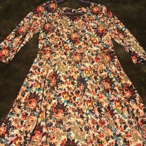 Xhilaration 3/4 sleeve floral dress 🍁🌻